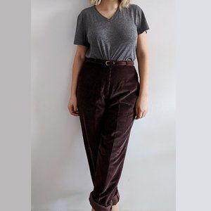 1980's Corduroy Trousers with Matching Belt